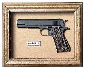 Quadro de Arma Resina Colt cal. 45 M. 1911 - Clássico