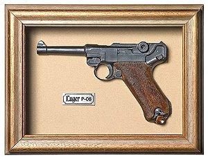 Quadro de Arma Resina Luger P 08 - Clássico