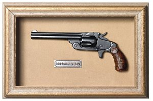 Quadro de Arma Resina Smith & Wesson S.A. cal. .38 S&W - Clássic