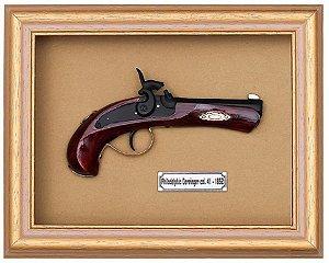 Quadro de Arma Resina Derringer - Clássico