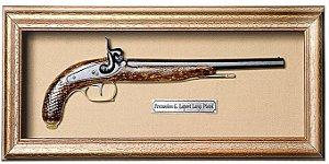 Quadro de Arma Resina Percussion G. Laport Large Pistol - Clássico