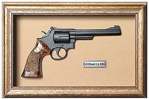 Quadro de Arma Resina Smith & Wesson S.A. cal. 38 S&W - Clássico