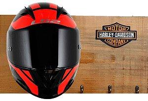 Porta Capacete Harley Davidson - 3 Ganchos (Visor para frente)