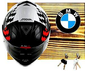 Porta Capacete BMW - 2 Ganchos (Visor para baixo)