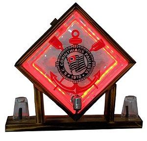 Pingometro de Bloco de Vidro -  Corinthians - COM LUZ DE LED
