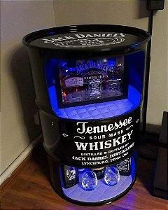 Tambor Barzinho - Jack Daniel's - Prateleiras e luz de led