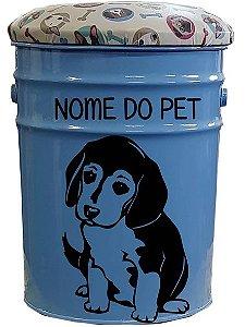 Porta Ração / Banqueta Beagle (Azul)