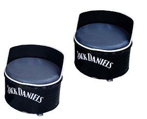 Kit Tema Jack Daniel's - 2 Poltronas de tambor