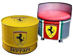 Kit Ferrari - Mesa de Centro +  Poltrona