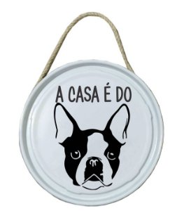 Plaquinha de porta - PET - A casa é do Bulldog Fracês