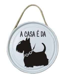Plaquinha de porta - PET - A casa é do Schnauzer