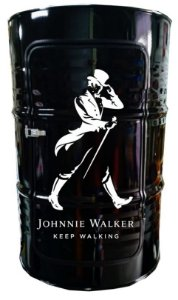 Tambor Barzinho com Luz de Led - Johnnie Walker