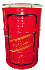 Tambor Barzinho Com Luz de Led - Red Label
