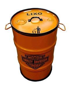 Lixeira de Tambor 80 Litros - Tema Harley Davidson
