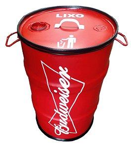 Lixeira de Tambor 80 Litros - Tema Budweiser