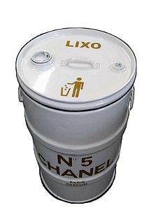 Lixeira de Tambor 80 Litros - Tema Chanel