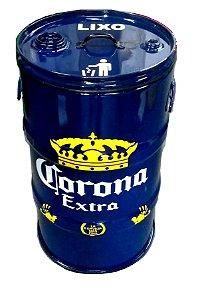 Lixeira de Tambor 80 Litros - Tema Corona