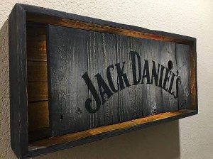 Quadro Jack Daniel's com Led Amarelo