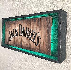 Quadro Jack Daniel's com Led Verde