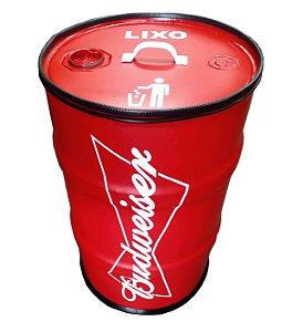Lixeira de Tambor - Budweiser