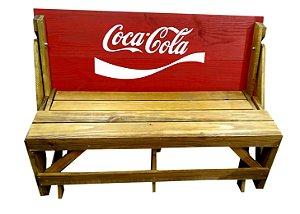 Banco que vira Mesa - Tema Coca Cola - 6 Lugares - 1,50 cm
