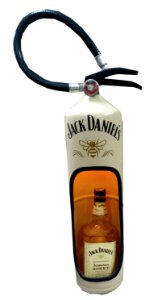 Extintor decorativo -  Tema Jack Daniel's Honey