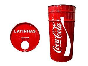 Lixeira de Tambor para Latinhas - Coca Cola