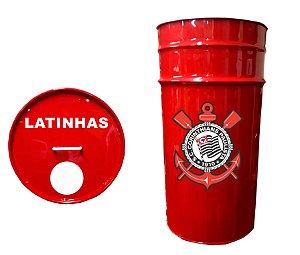 Lixeira de Tambor para Latinhas - Corinthians