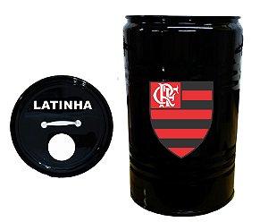 Lixeira de Tambor para Latinhas - Flamengo