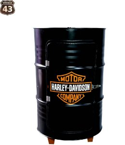 Tambor Barzinho Com Luz de Led - Tema Harley Davidson