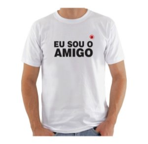 Camiseta Manga Curta iCuston EU SOU O AMIGO