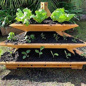 Canteiro Pequeno em Forma de Pirâmide do Jardineiro Amador