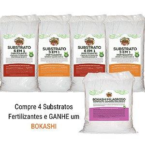 Combo Compre Quatro Substratos Fertilizantes e Ganhe um Bokashi Milagroso