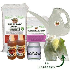 Kit para Plantar Frutas em Vasos do Jardineiro Amador
