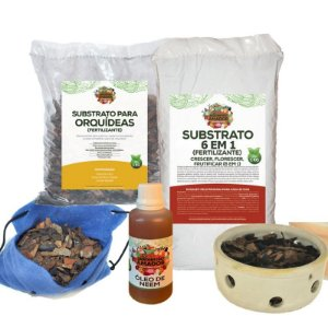 Kit Completo para Plantar Orquídeas do Jardineiro Amador