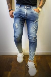 CALÇA CITY DENIM NEEDLES