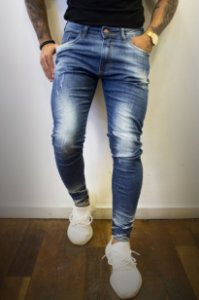 CALÇA CITY DENIM ANKLE SPOTS