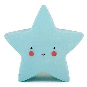 Mini Luminária Estrela Azul