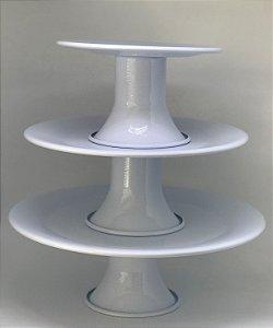Kit com 3 Pratos de Alumínio - Branco