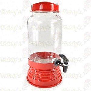 Suqueira de Vidro - Vermelha - 01 unidade