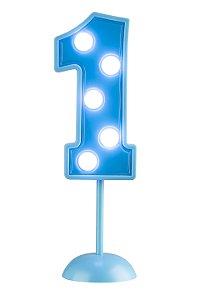 Velas de Led Número 1 - Azul - 01 unidade