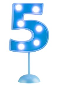 Velas de Led Número 5 - Azul - 01 unidade