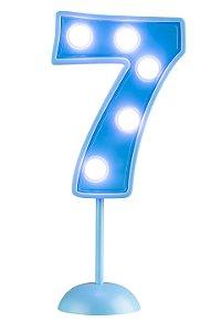 Velas de Led Número 7 - Azul - 01 unidade