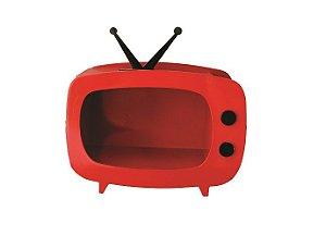 TV de MDF - Vermelho - 01 unidade