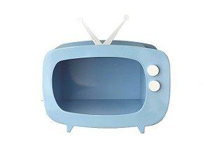 TV de MDF - Azul - 01 unidade