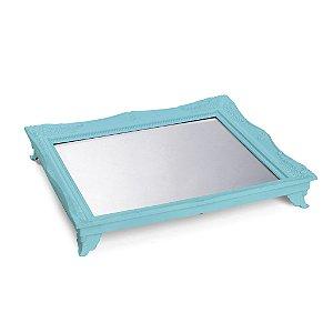 Bandeja com Espelho - Azul Claro - 01 unidade