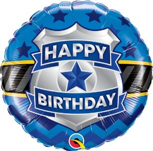 Balão Aniversário Distintivo - 01 unidade