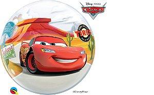 Balão Bubble Relâmpago McQueen e Mate  - 01 unidade