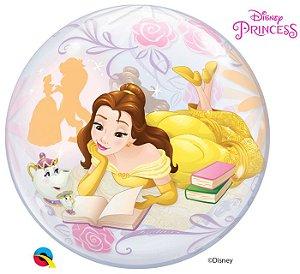 Balão Bubble Princesa Bela  - 01 unidade