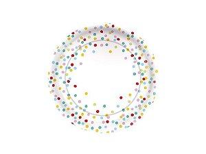 Prato de Papel - Confete - Pacote com 8 Unidades